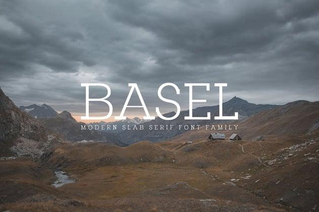 Basel Modern Slab Serif Font Family