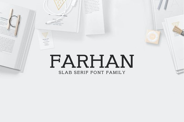 Farhan Slab Typeface Font Family
