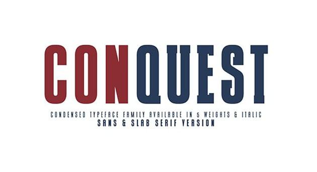 Conquest Sans  Slab Serif
