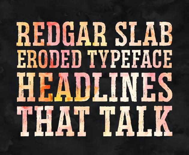 Redgar Eroded Slab Typeface