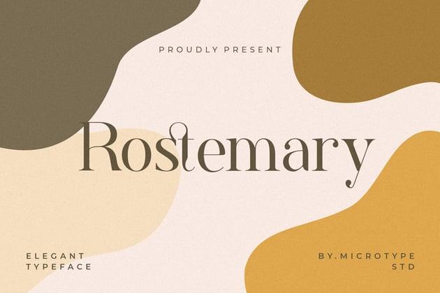 Rostemary Serif Modern Elegant Fonts