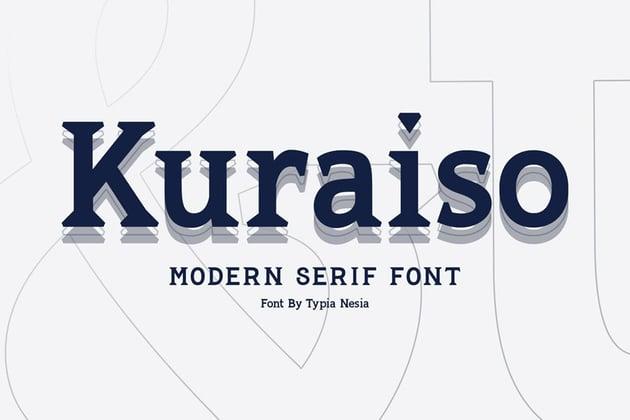 Kuraiso Modern Sleek Fonts