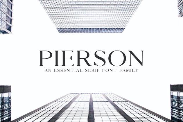 Pierson Modern Font Styles