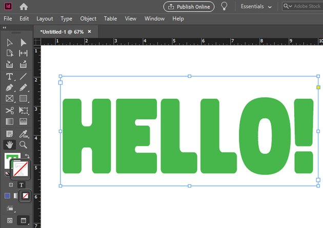 remove color indesign text