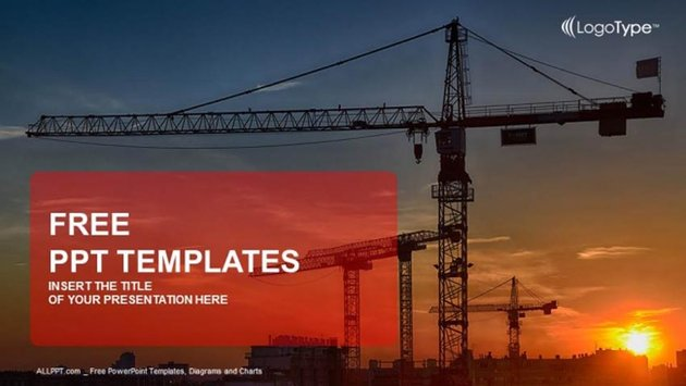 Free Construction Slide Template