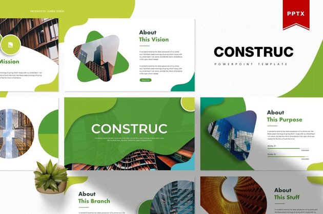 premium construction slide template