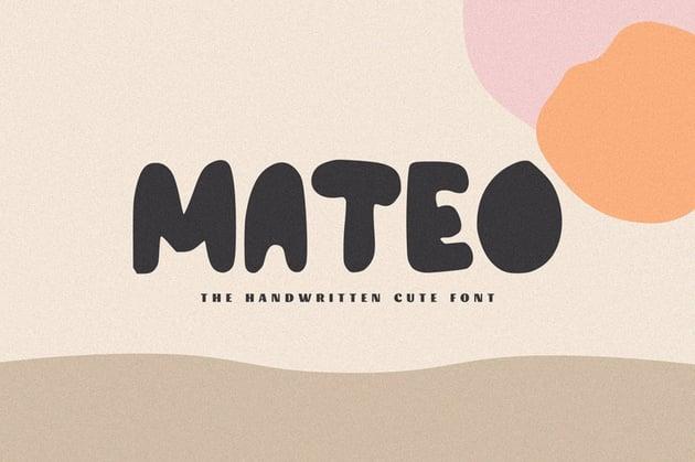 Mateo Cute Cricut Handwriting Fonts