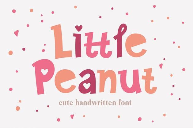 Little Peanut Cute Kids Cricut Font