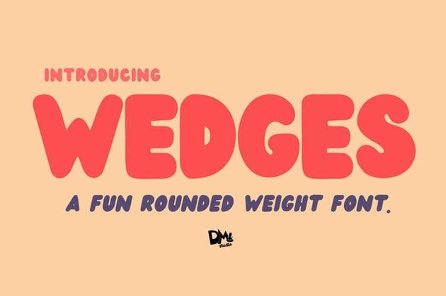 Wedges Bold Chunky Cricut Font