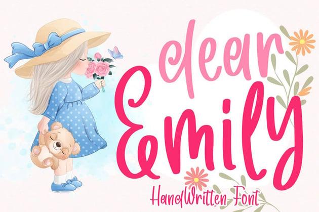 Dear Emily Cricut Handwriting Fonts