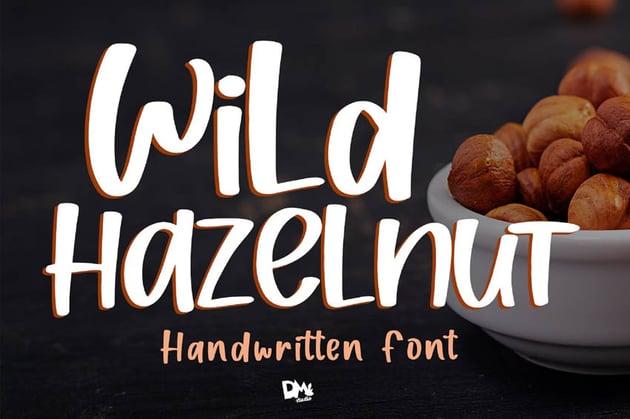 Wild Hazelnut Cricut Lettering Fonts