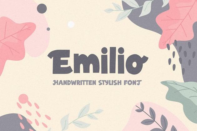 Emilio Bold Cricut Lettering Fonts