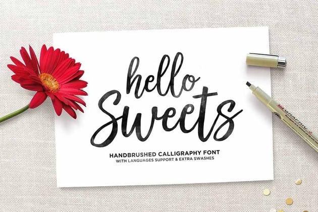 Hello Sweets Cricut Script Font