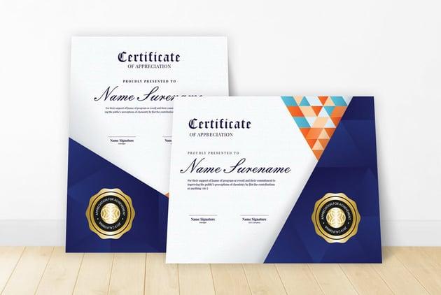 Premium certificate template design