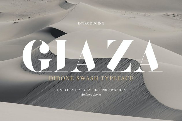 Giaza Didone Swash Typeface