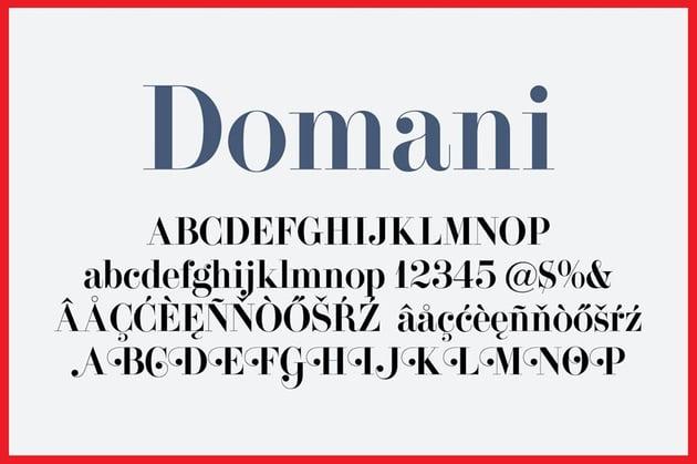 Domani Vintage Modern Didone Font