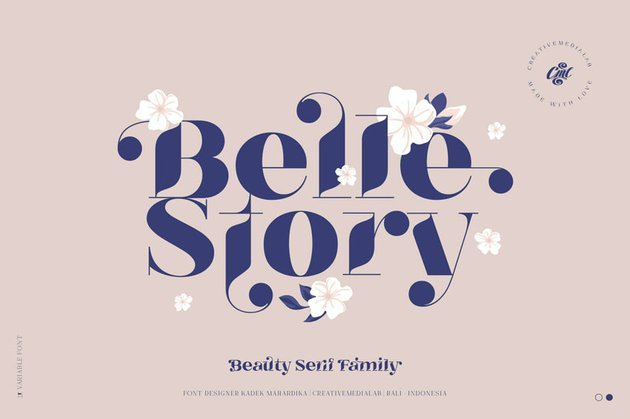 Belle Story High Contrast Font Family