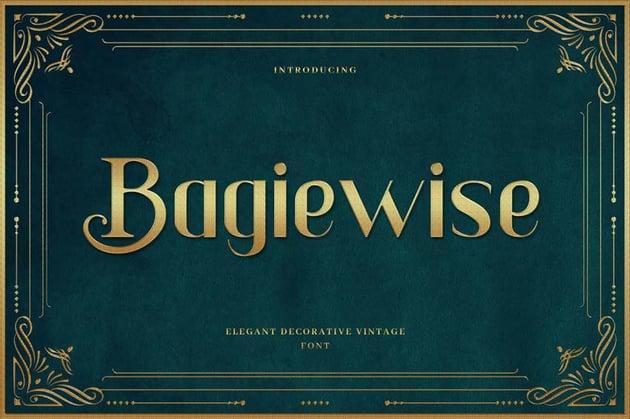Bagiewise - Luxury Art Deco Typeface