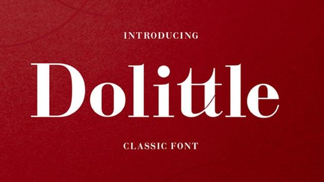 Dolittle Modern Didone Font