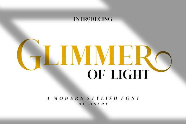 Glimmer of Light Font Didone Typefaces