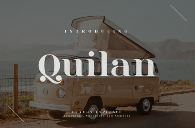Quilan Rounded Didot Style Fonts