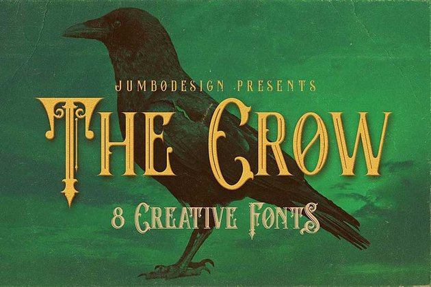 The Crow Display Font Family