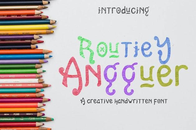 Routiey Angguer Handwritten Font