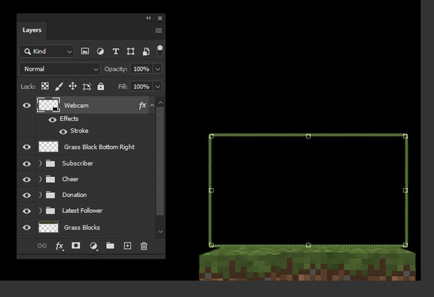 grass block minecraft webcam overlay