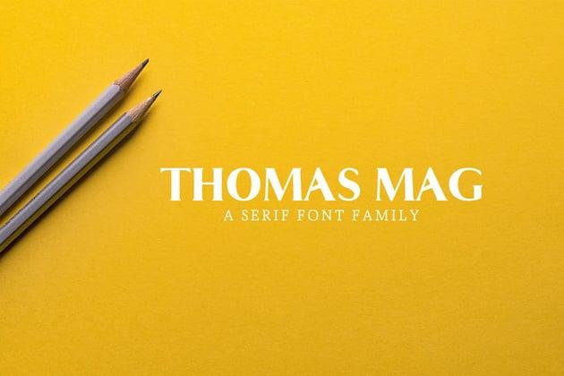 Thomas Mag Serif Font Family Pack
