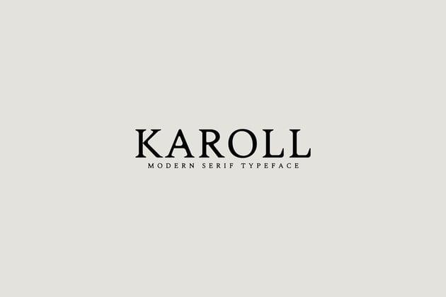 Karoll Serif Font Family (Old Style Serif Font Inspiration)