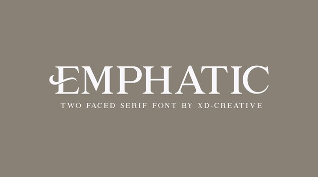 Emphatic Stylish Serif Typeface (Modern Old Style Font)