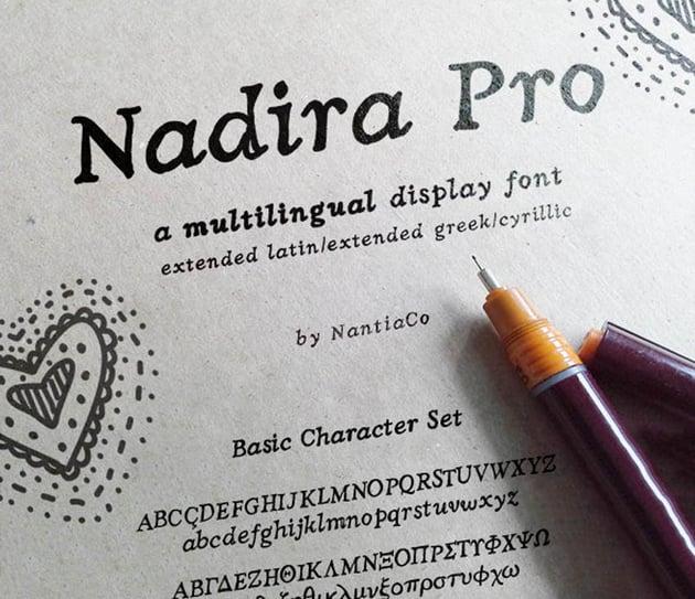 Nadira Pro Greek Cyrillic Latin Font
