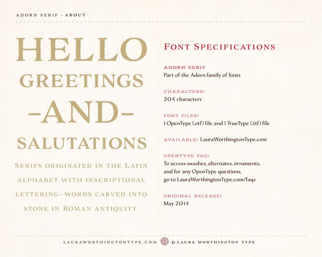 Adorn Serif Old Style Font