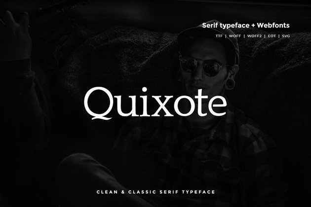 Quixote - Classic Serif Typeface + WebFont