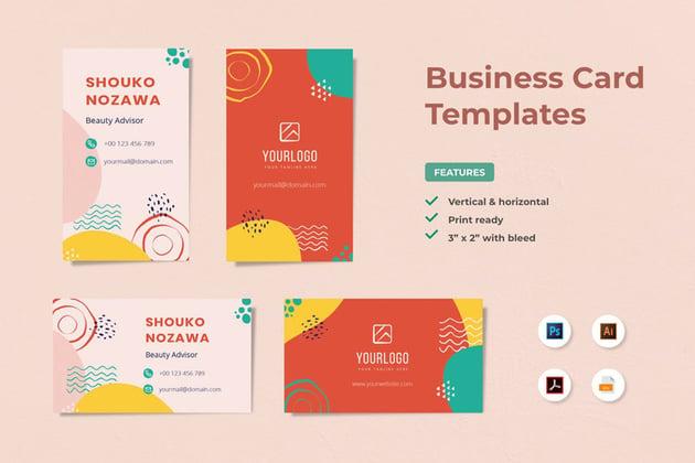 premium business card design template