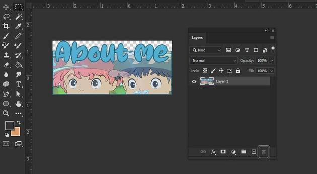 Photoshop Delete layer