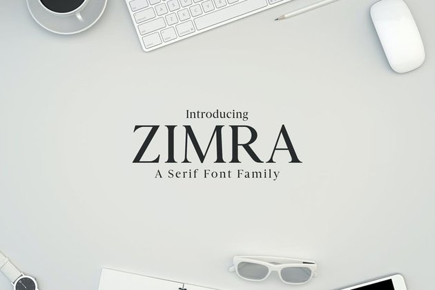 Zimra Serif Fonts Family Pack