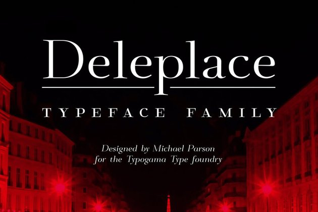 Deleplace Font Family