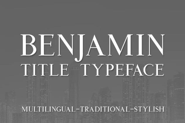 Benjamin Title Serif