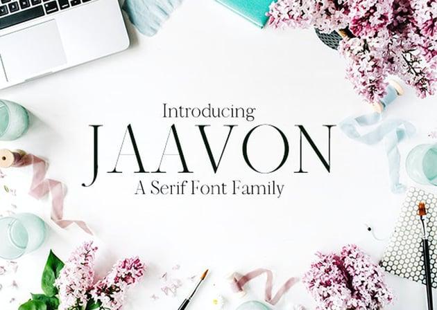 Jaavon Serif Font Family
