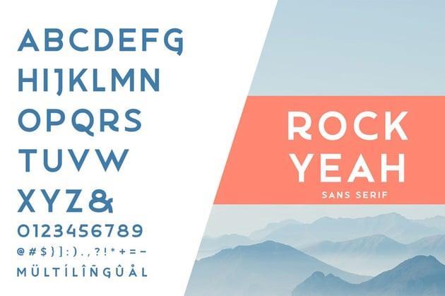 Rockyeah Geometric San Serif Font