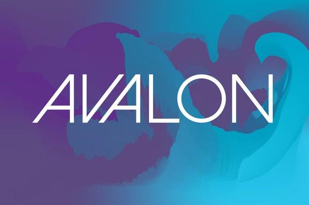 Avalon Extreme Geometric Typeface