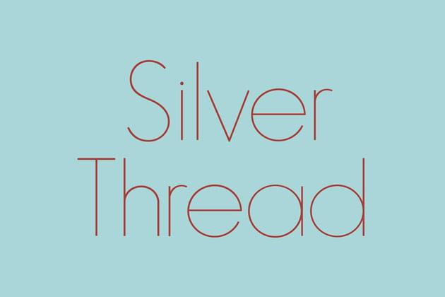 Silver Thread Geometric Typeface