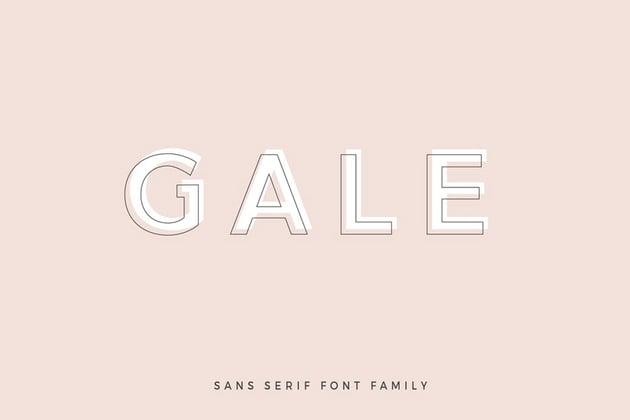 Gale Geometric Sans Serif Fonts