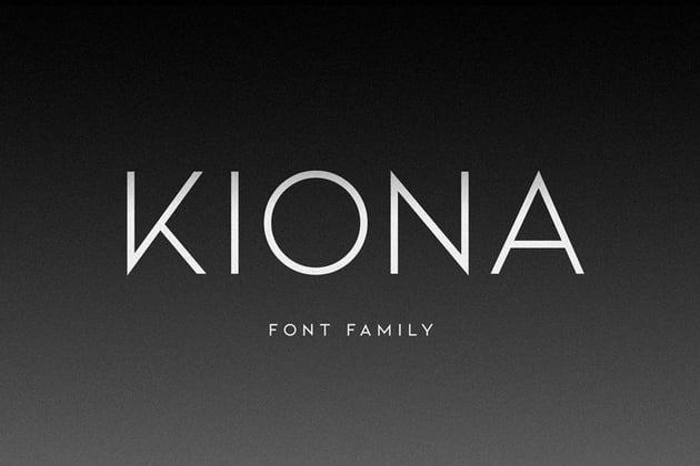KIONA Geometric San Serif Font