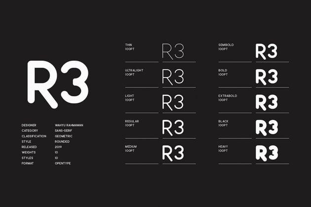 Leo Rounded Geometric Sans Serif Fonts
