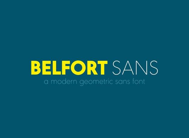 Belfort Geometric Font
