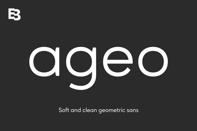 Ageo Geometric Sans Serif Fonts