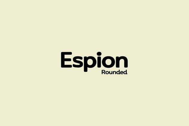 ESPION Rounded - Modern Typeface