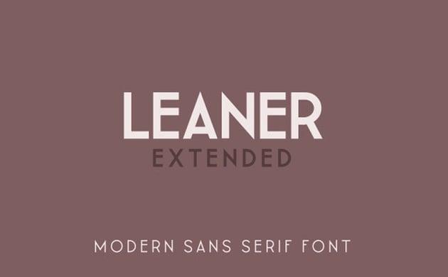 LEANER Extended -Bold